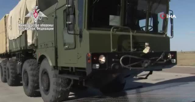 Rusya Savunma Bakanlığı S-400 sevkiyatının son görüntülerini yayınladı