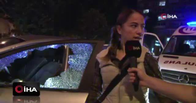 Kaza sonrası kadın sürücü, otomobile levyeyle saldırdı iddiası