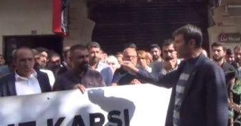 HDP'li gruba vatandaş tepki gösterdi