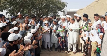 İhlas Vakfı hayırseverlerin yardımları ile Afganistan'da Kur'an kursu ve su kuyusu açtı