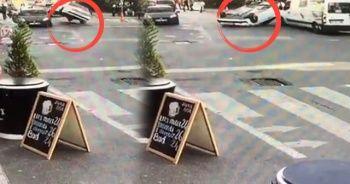 İstanbul'da akıl almaz kaza