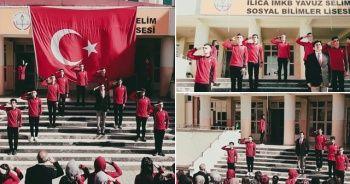 Liseli öğrencilerden Barış Pınarı Harekatına 'İstiklal Marş'lı klip