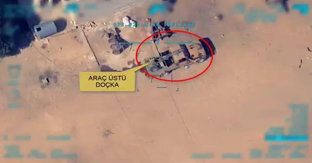 PKK-PYD'li teröristlere ait doçka böyle vuruldu