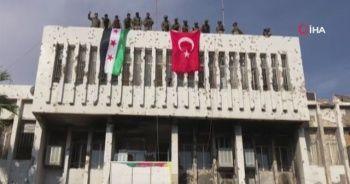 Resülayn'da Türk bayrağı dalgalanıyor