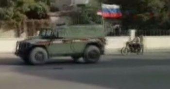 Rus askerleri Münbiç'te devriye attı