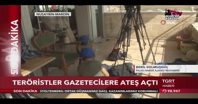 Teröristler gazetecileri hedef aldı! İHA muhabiri saldırı anını TGRT Haber canlı yayınında aktardı