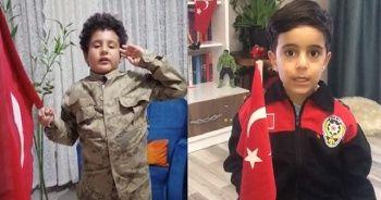 Tunceli'de miniklerden, Mehmetçiğe videolu destek