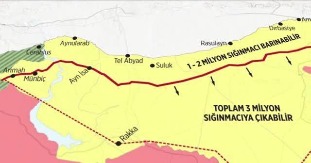 Türkiye'nin 'güvenli bölge' haritası