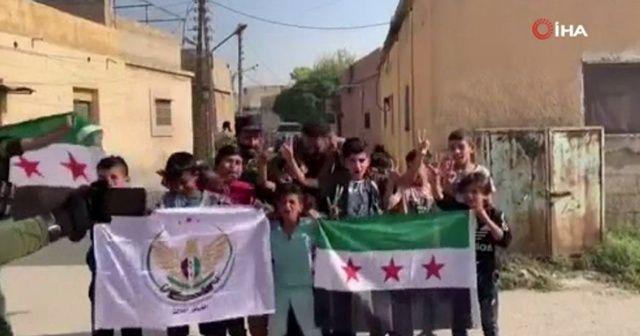 Tel Abyad'daki çocuklardan SMO'ya destek