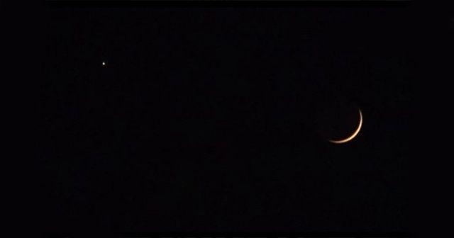 Gökyüzündeki ay ve yıldız Türk bayrağını hatırlattı
