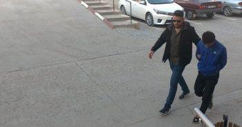 Hırsızın takip anları kamerada
