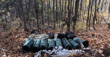 Kıran-5 Operasyonunda teröristlerin Muş'taki sığınakları böyle görüntülendi