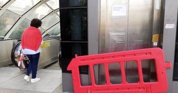 Metrobüste bozuk asansör rezilliği