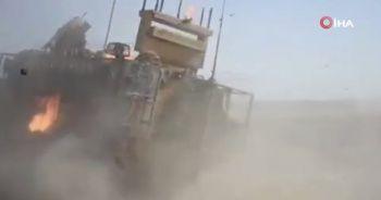 Suriye'de devriye atan Türk askerlerine teröristler molotof kokteyl ile saldırdı