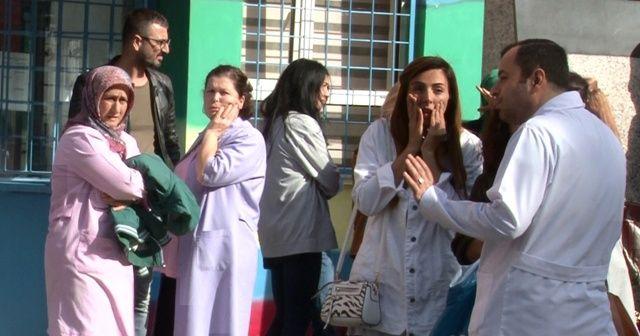 Minik öğrencinin ezildiği kaza sonrası yaşanan panik kamerada