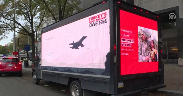 Türkiye'nin DEAŞ ile mücadelesi Washington sokaklarında