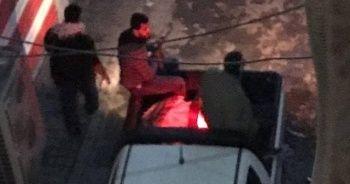Bağdat'ta protestoculara saldırı anı kamerada