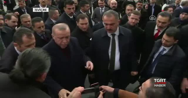 Cumhurbaşkanı Erdoğan İsviçre'de sevgi gösterileriyle karşılandı
