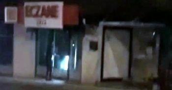 Eczanelerin camını kıran saldırgan görüntüle