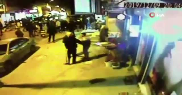 Esenyurt'ta kız kaçırma kavgası kamerada