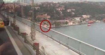 15 Temmuz Şehitler Köprüsü'ne çıkan şahsın atlama anı ortaya çıktı