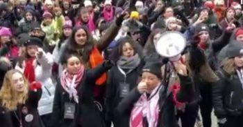 ABD'de binlerce kadından Trump karşıtı gösteri
