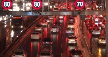 İstanbul'da trafiğe hava muhalefeti