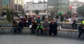 Silivri'de deprem vatandaşları sokağa döktü
