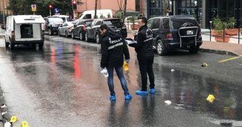 Sokak ortasında çatışma kamerada