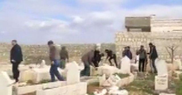 Esad rejimi mezarları yağmalıyor