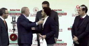 Cumhurbaşkanı Erdoğan ile Larkin arasında güldüren diyalog!
