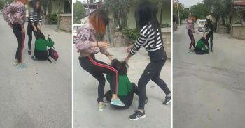 Denizli'de kız çocukları çete kurdu! Kan donduran görüntüler ortaya çıktı