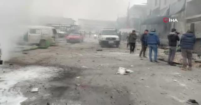 Esad rejimi İdlib'de sanayi bölgesini vurdu