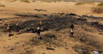 Husiler koalisyon uçağının düşürülme görüntülerini yayınladı