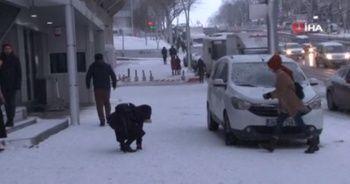 İstanbul'da çocuklar karın keyfini çıkardı