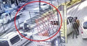 Kaza anı güvenlik kamerası tarafından kaydedildi