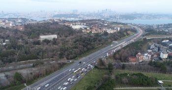 Okulun ilk günü 15 Temmuz Şehitler Köprüsü'nde yoğun trafik