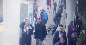 Otogar metro istasyonunda dehşet anları!