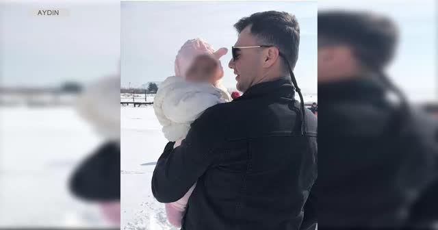 Şehitten geriye 3 aylık kızıyla vedalaştığı görüntüler kaldı