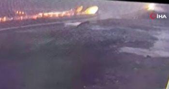Uçağın pistten çıktığı anlara ait yeni görüntüler ortaya çıktı