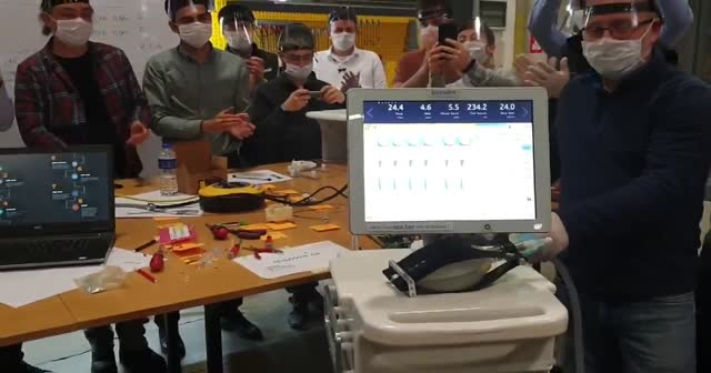 Yerli solunum cihazının ilk prototipi denendi! İşte o görüntüler