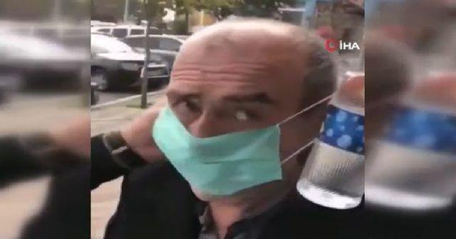Yaşlı adama zorla maske takan ve kafasına kolonya döken şüpheli gözaltına alındı