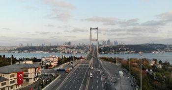 15 Temmuz Şehitler Köprüsü, sokağa çıkma kısıtlamasının 2'inci gününde sessizliğini korudu