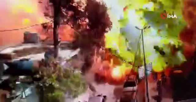 Afrin'de patlama anı