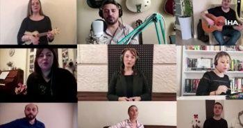 Müzik öğretmenlerinden öğrencilere 'EBA' şarkısı