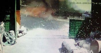 Pendik'te ham madde deposunda gerçekleşen patlama anı kamerada