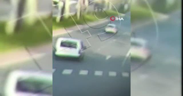Polis memurunun öldüğü kaza kamerada