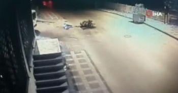 Ümraniye'de feci kaza: Motosikletli metrelerce havaya fırladı