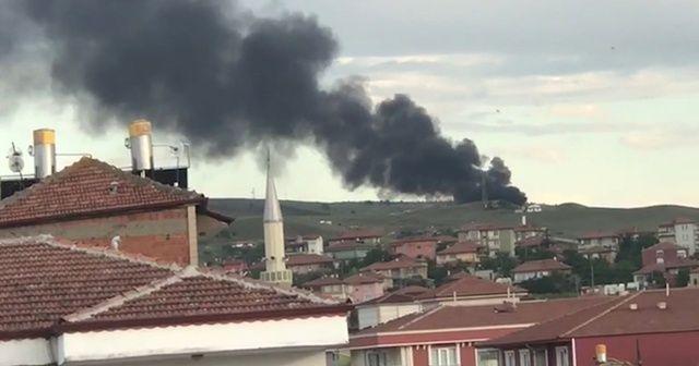 Kırıkkale'de çöplükte çıkan yangın korkuttu