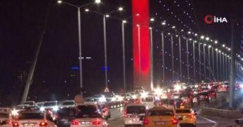 15 Temmuz Şehitler Köprüsü'nde kısıtlama sonrası trafik yoğunluğu